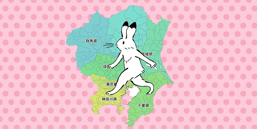 関東地方里子うさぎ